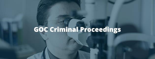 GOC Criminal Proceedings