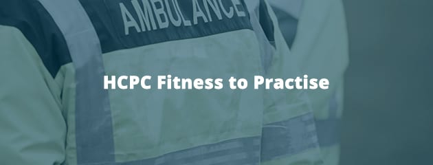 HCPC fitness to practise header image