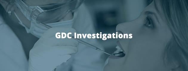 GDC investigations header image