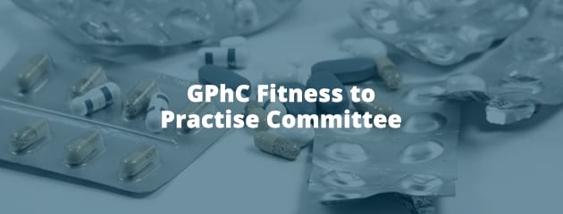 GPhC fitness to practise header image