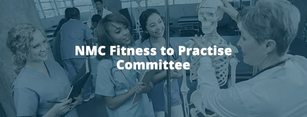 NMC fitness to practise committee header image