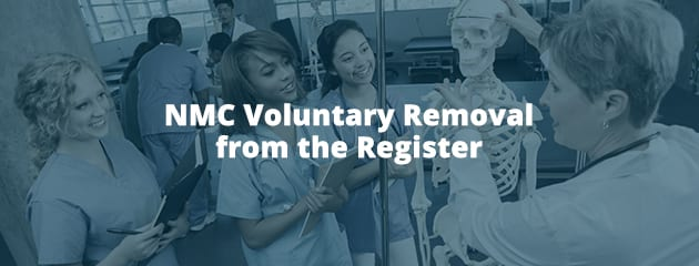 NMC Voluntary Removal from the Register