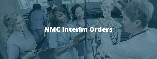 NMC interim orders header image